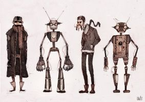 with robot friends by o-w-l-y