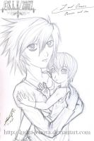 W.I.P L and his son-Death Note by Ludra-Jenova