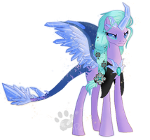 Princess Gem Stone (Alicorn Concept) by MissTulcadhiel
