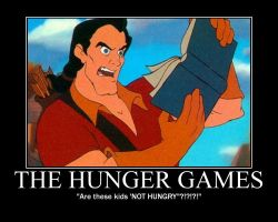 Gaston Reads Hunger Games by LivingShadowDarkMark