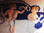 Greek Themed Needlepoint by mertonparrish