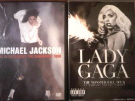 MJ and Gaga Tour by TheDarkAbb