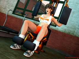 In the gym by Trahtenberg