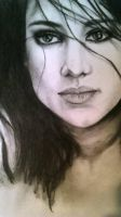 Woman Charcoal by Luisamd