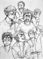 Fatty vampire boy expresions. by Quokadrawing