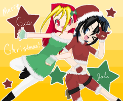 Gis and Juli Merry Christmas by GozenYuji