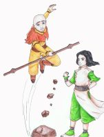 Young Lin and Tenzin by Thirrinaki