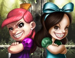 EVIL_STEPSISTERS_for_cgpintor by totmoartsstudio2