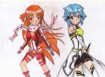 Sinon And Asuna by Wesnady