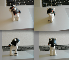 Ceramic Pony GLaDos try by Darkheartz