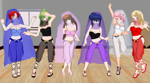 Kyouiku Shido Girls Belly Dancers by quamp
