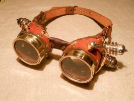 Still another steampunk goggles by ChanceZero