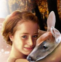 Elven Girl with Fawn by rckobb