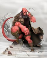HELLBOY  .colored. by Shadowgrail