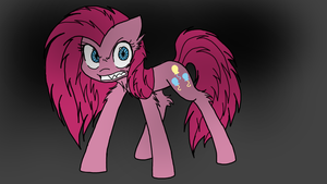 Angry Pinkamena (colored) by jinxednight