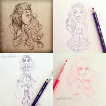 Sketch Dump by angelaaasketches