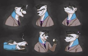 Commission: Mizu's Expression Sheet by Temiree