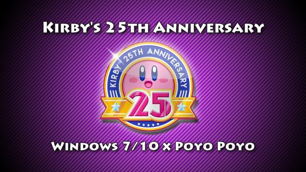 Kirby's 25th Anniversary Theme For Windows 7/10 by nc3studios08