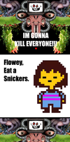 Omega Flowey Snickers by PrincessRobocop