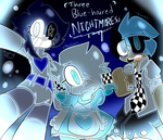 Three Blue-Haired Nightmares by gALECsy