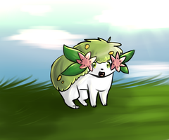 Shaymin by Hatchetfishies