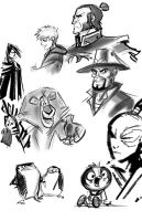 various brushes 01 by rufftoon