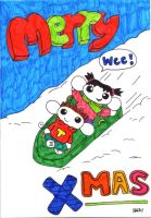 Merry Xmas. Card Design 1 by Puppy2388