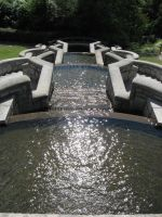 Fountain view down by Reyphotos