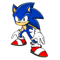 Sonic Lineart 18 SEPT 2012 (rendering experiment) by Chiblu