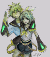 Kagamine Rin and Len by NTH713