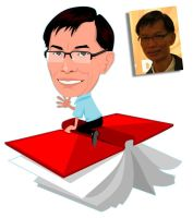 Caricature - my colleague III by Lord-Yoda