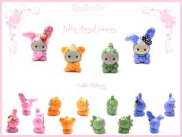 Polka Animal Charms by FlyingPandaGirl