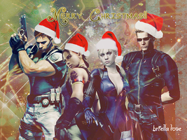 Resident Evil 5 Merry Christmas Wallpaper 2O11 by BriellaLove