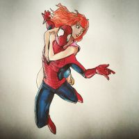 Spidey and MJ by Massimo-Weigert
