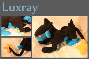 Large Luxray Plushie by VenomousDesires