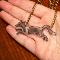 Fox necklace by KING1384