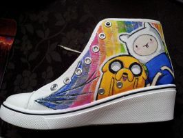Adventure Time Sneakers!!! by HitoriHime