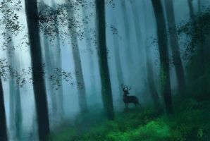 Forest Deer by sourvc