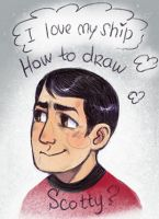 I cant draw Scotty normally by Kethavel