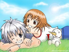 Haru, Elie and Plue by mics15