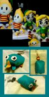 Plushies and keychains by Irrel