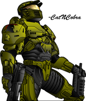 Halo Wars: Spartan 'Color' by CatNCobra