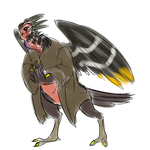 Hornbill Alien by NinjaWerewolves