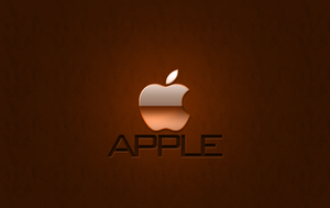 Apple Wallpaper ORANGE by 1madhatter