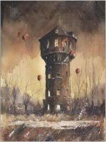 The eldest silesian watertower by sanderus