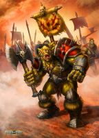 Orc Warrior Hero by ARTOFJUSTAMAN