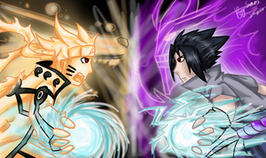 Naruto vs Saske by SanySuper