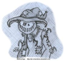 Sketch - The Shambling Scarecrow by AK-Is-Harmless