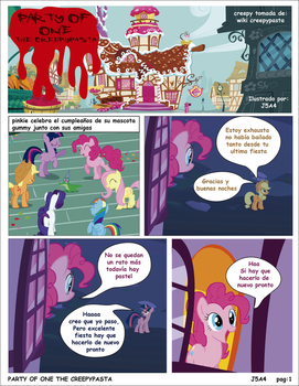 Mlp party of one  creepypasta pag 1 by j5a4