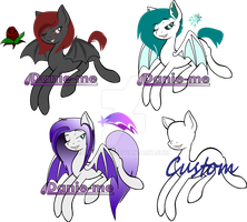 Bat pony adopt set (open) by Danie-me